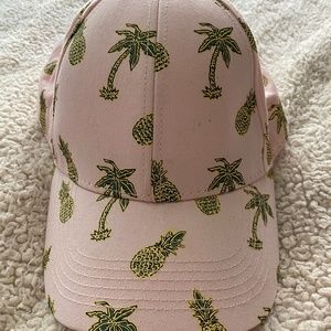 WESC Pink Pineapple and Palm Tree Snapback